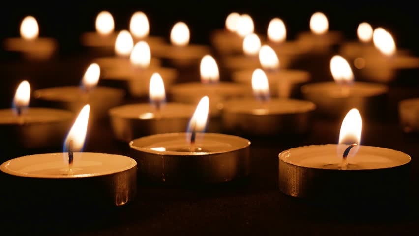 The candles are burning | Shutterstock HD Video #1009195643