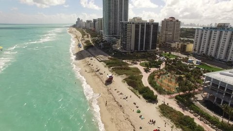 Heading south along the beach in Miami Beach south of 72nd Street part three.