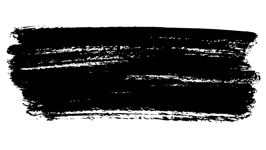 Three episodes of abstract black ink hand-painted brush strokes - 4K Underline and title design