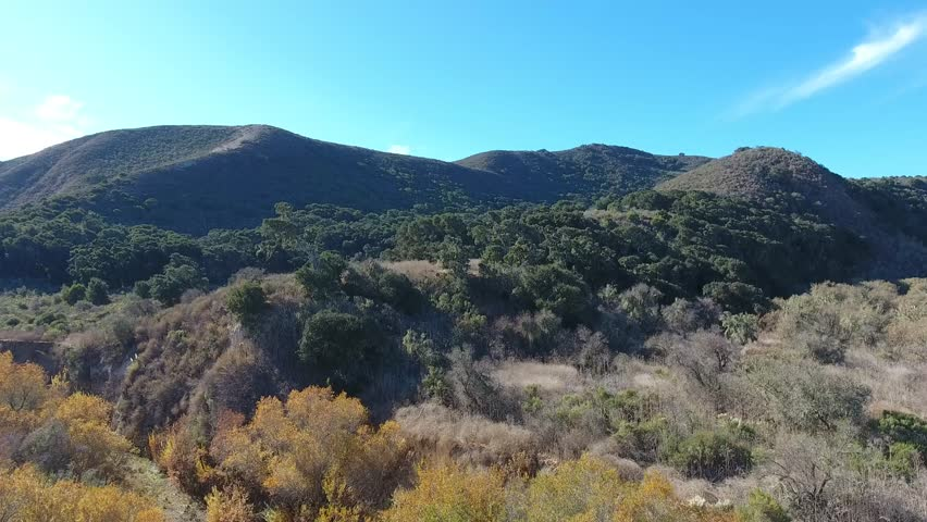 Drone Flyover - Central California Oak Covered Hills