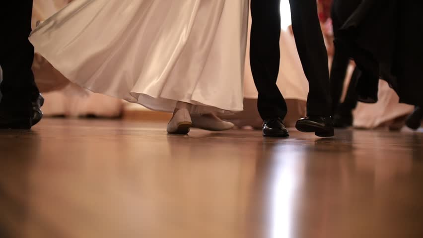 Young people at the historical ball going at the ballroom, slow-motion | Shutterstock HD Video #1009295333