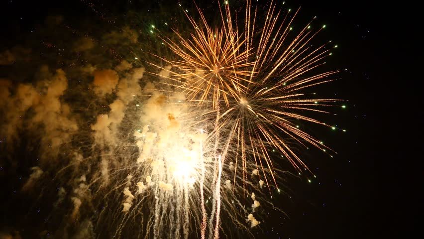 The fireworks in the night sky | Shutterstock HD Video #1009402973