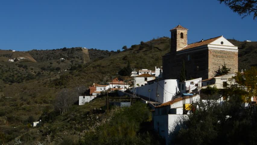 Benaque, native town of the Spanish poet, Salvador Rueda, between mountains
