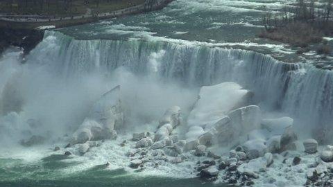 Bridal Veil Falls (Niagara Falls) - U.S. side (In New York State). It is one of the three waterfalls that make up Niagara Falls