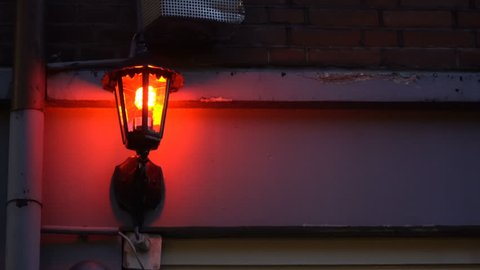 Loop-able video background of a Red Light Lantern shot in the famous Red Light District in Amsterdam