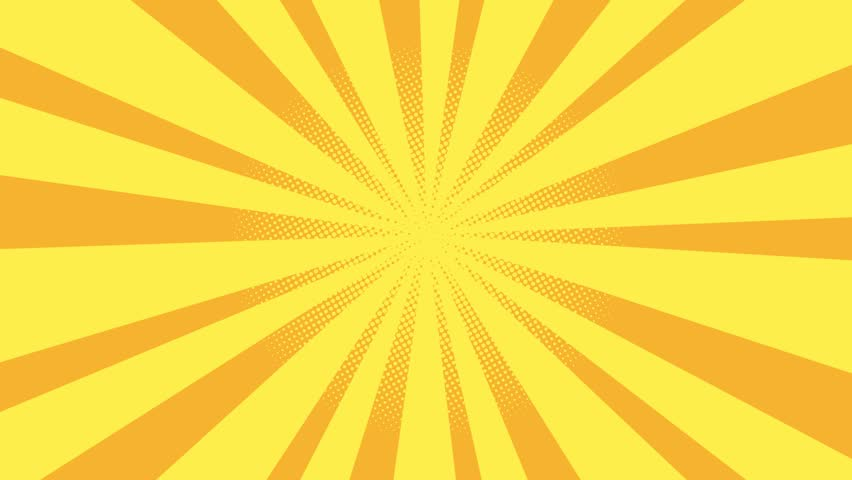 Yellow Burst illustration background. Cartoon sun light over orange sky Background with space for logo or title, Nice sunbeam vintage style sun Retro Pattern animation. Seamless loop footage. | Shutterstock HD Video #1009518563