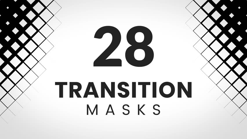 28 rhombus transition masks. Simple geometric patterns for trendy and creative slideshow.  | Shutterstock HD Video #1009542233