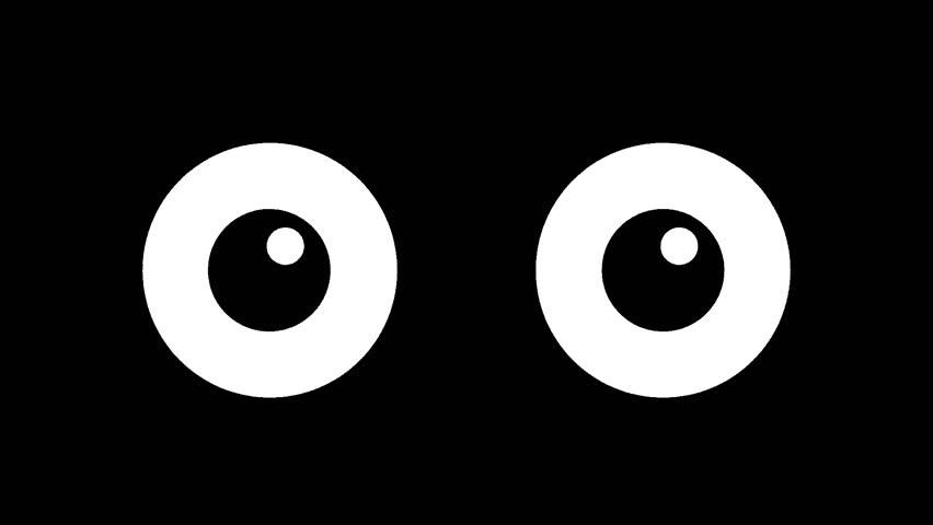 Cartoon big eyes blinking in the dark. animated winking   Shutterstock HD Video #1009620743