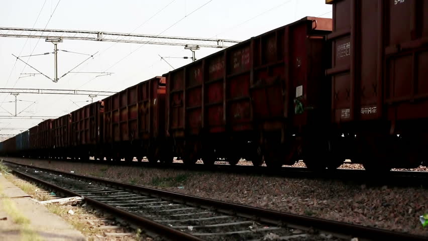 Indian Railways Freight Goods Train Stock Footage Video (100% Royalty-free)  1009635083 | Shutterstock