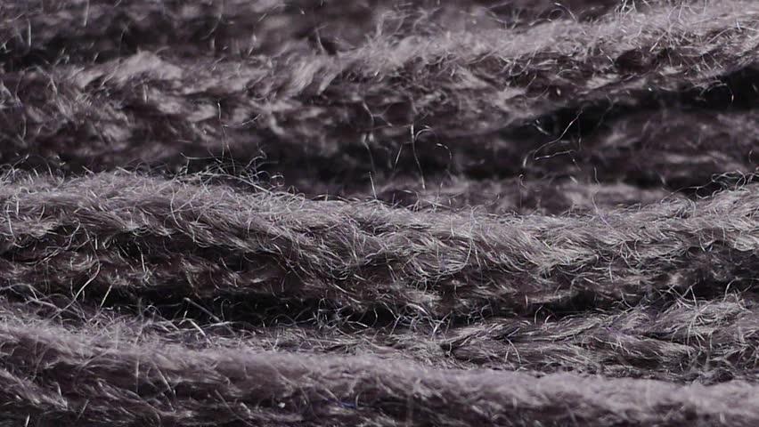 Woolen knitting closeup