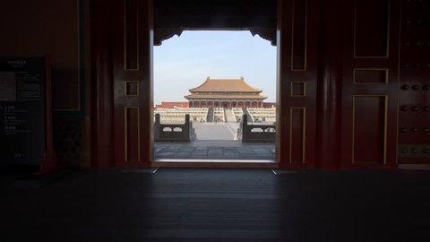 Beijing, China - Mar 16, 2018: 4k video of Forbidden City in Beijing