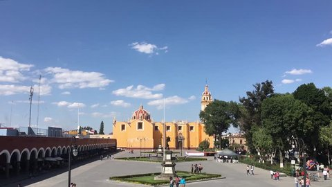 Cholula Downtown in Fast Motion