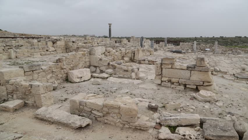 in cyprus paphos  the antique historical site ruins and heritage