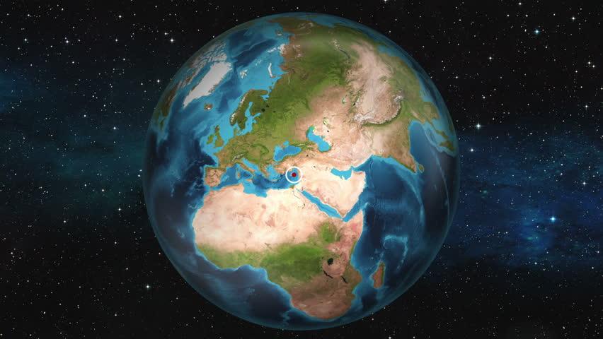 Earth Zoom In Map - Episkopi, Limassol