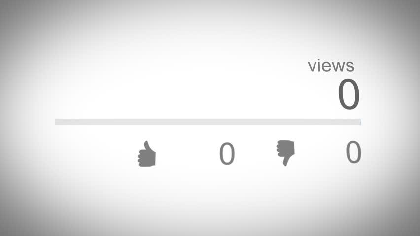 Social Media View Counter 02 Blue   Shutterstock HD Video #1010012693
