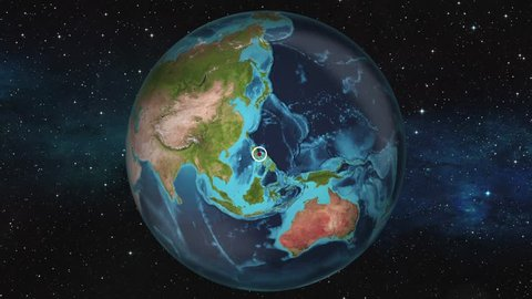 Earth Zoom In Map - Manila
