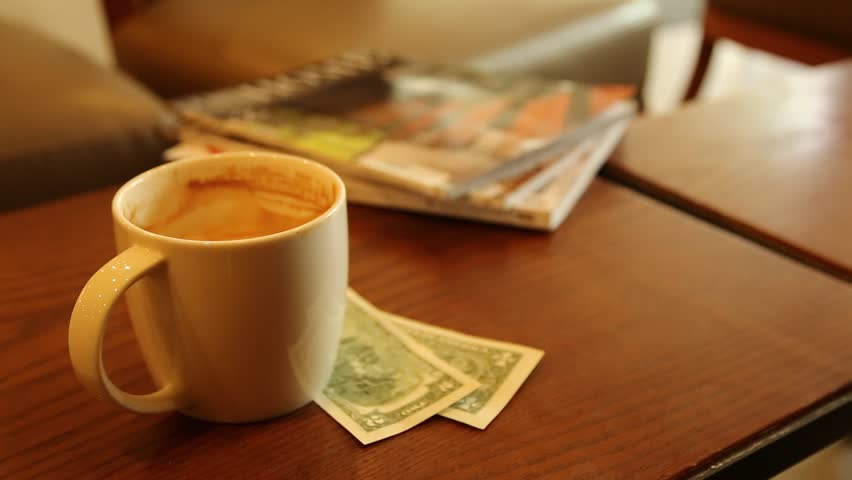 Coffee Newspaper money Business Concept in the morning | Shutterstock HD Video #1010073443