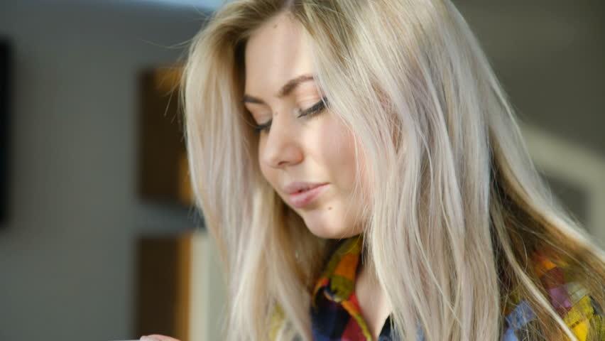 Technology communication mobile phone. modern gadgets. digital device addiction. young beautiful girl using smartphone | Shutterstock HD Video #1010108843