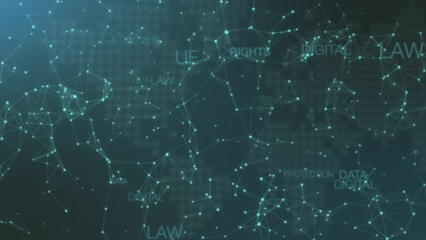 General data protection regulation GDPR concept, lock data and protecting citizen privacy, abstract network system and a stylized earth map on background | Shutterstock HD Video #1010111483