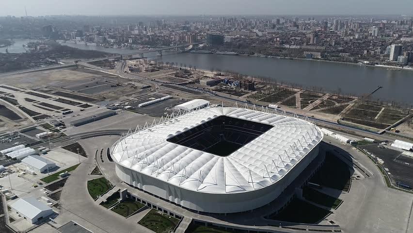 Rostov-on-Don / Russia - April 20 2017: Rostov Arena stadium aerial view