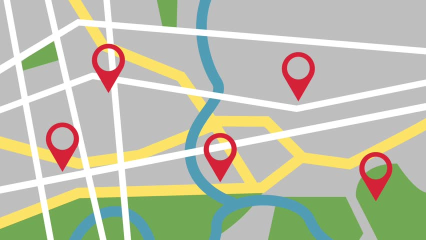 GPS city map locations HD animation | Shutterstock HD Video #1010259233