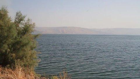 Looking down on Lake of Galilee (Israel)