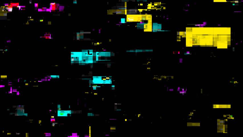 Colored Noise Digital Grunge Glitch Damage On Alpha Channel | Shutterstock HD Video #1010349563