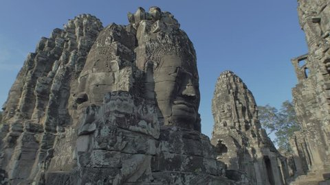 Bayon Temple gliding right for Color Grading