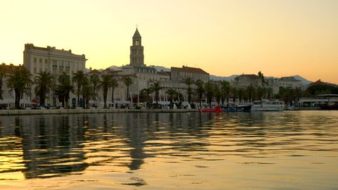 Old town of Split , Croatia - Split is the second-largest city of Croatia, the largest city of the region of Dalmatia and the prominent travel destination with historic center of Croatia cultures.