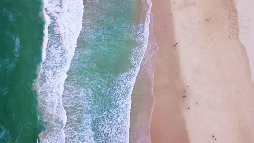 Waves from above 4K | Shutterstock HD Video #1010458373