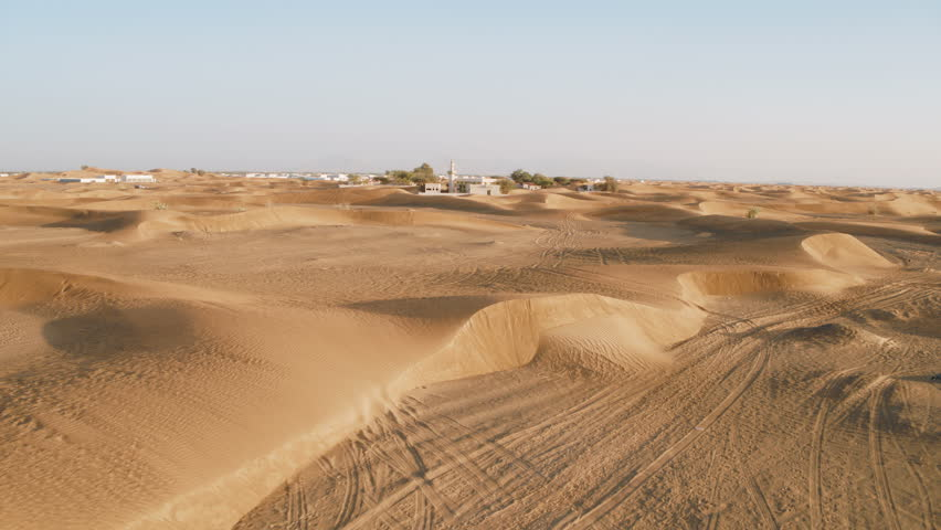 Abandoned Arab mosque in the desert | Shutterstock HD Video #1010470013