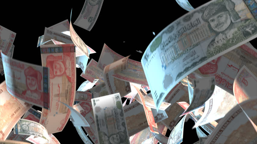 Falling Oman money banknotes  Video Effect simulates Falling Mixed Iceland Oman banknotes with alpha channel (transparent background) in 4k resolution  | Shutterstock HD Video #10104743