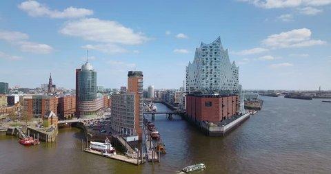 Hamburg Hafencity Aerial View HDR Panorama