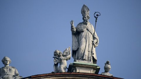 Statue of San Prospero, patron saint protector of Reggio Emilia, Italy