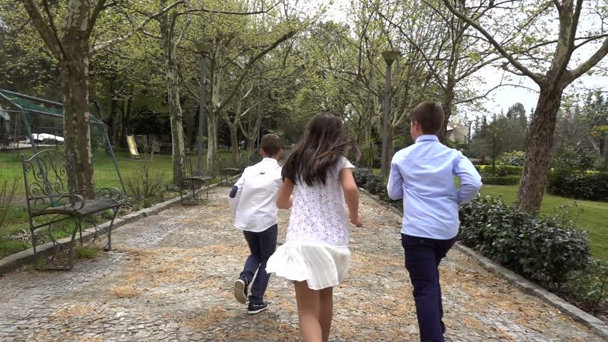 Children Running in the Park #1010511203