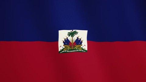 Haiti flag waving animation. Full Screen. Symbol of the country.