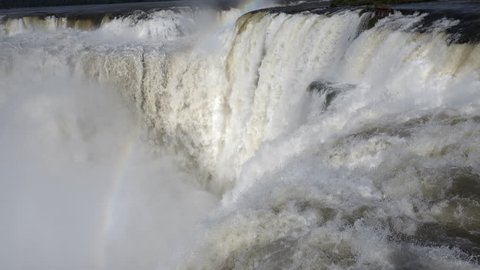 Devil's Throat (Garganta del Diablo) is the biggest of the Iguazu waterfalls, the largest  in the world.  Iguazu Falls located on the Iguazu River on the border of the Argentina and the Brazil .The mo