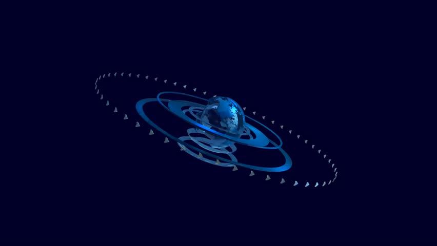 Globe blue intro news earth world | Shutterstock HD Video #1010707643