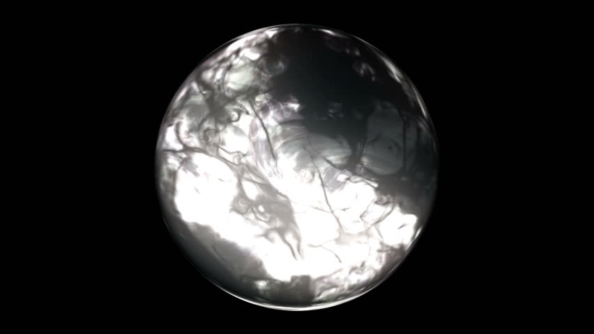 Alien and bright sphere | Shutterstock HD Video #1011081383