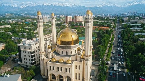 Mosque Aerial View. Almaty. Kazakhstan,