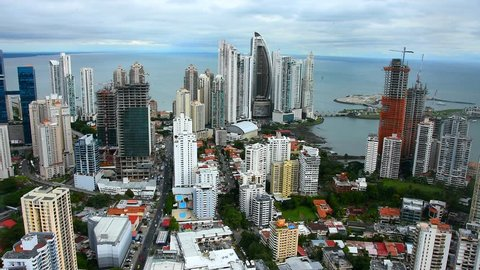 Panama City Skyline view of central business district of Panama city, Trump tower building