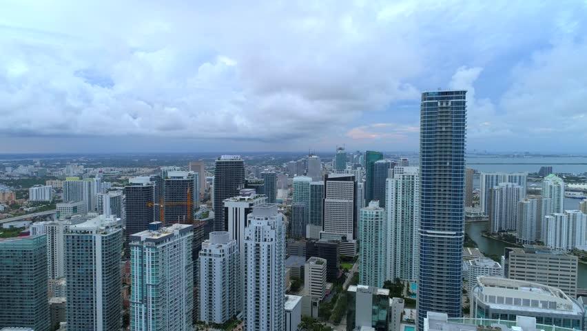 Drone aerial Miami Brickell 4k   Shutterstock HD Video #1011231443