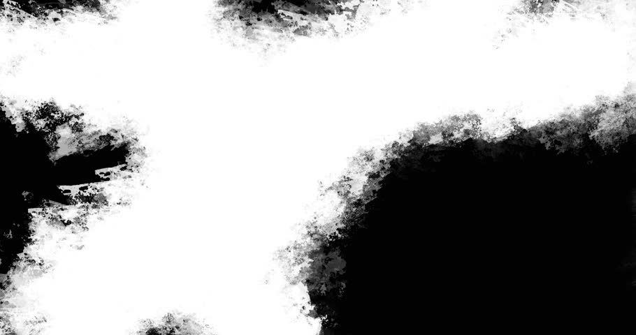 Animated loop able abstract background with hand painted cruciform art brushstrokes. Black and white for custom use.