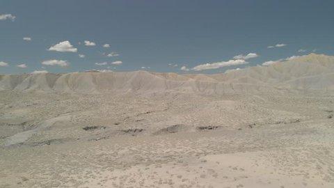 Aerial Shot Of Desert Dunes Panning Right