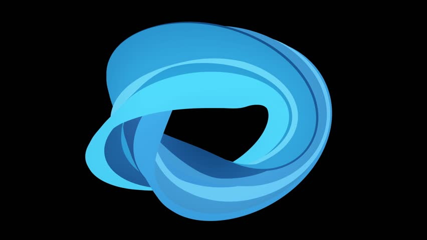 Soft colors flat 3D curved BLUE donut candy seamless loop abstract shape animation background new quality universal motion dynamic animated colorful joyful video footage