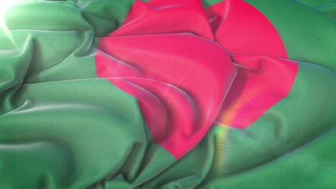 Bangladesh flag.Flag of Bangladesh Beautiful 3d animation of India flag in loop mode.Bangladesh flag animation