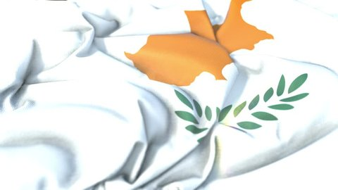 Cyprus flag.Flag of Cyprus Beautiful 3d animation of Cyprus flag in loop mode.Cyprus flag animation