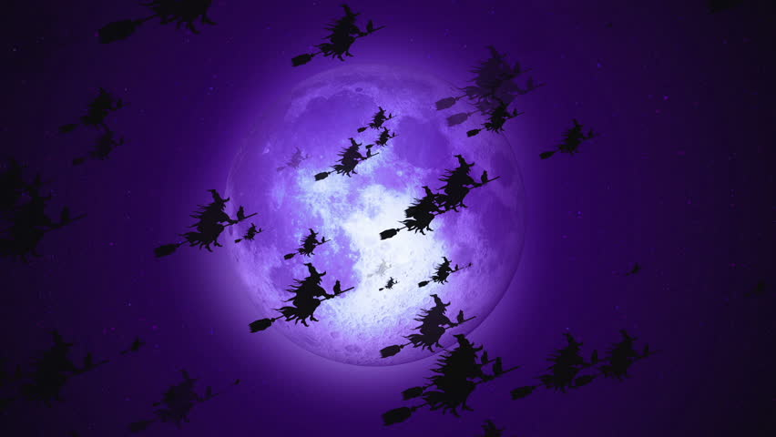 Halloween animation background. You can use it for a technology, stage, communication or social media background. Seamless loop. | Shutterstock HD Video #1011365033