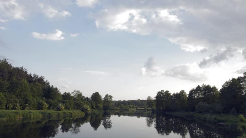 Wild natural river. Nature series. | Shutterstock HD Video #1011366443