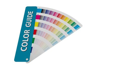 cmyk color chart to use in prepress and printing. Used to pick color swatches. cyan magenta and yellow are base colors and others has been created combining them. tints and ink catalog for graphic art